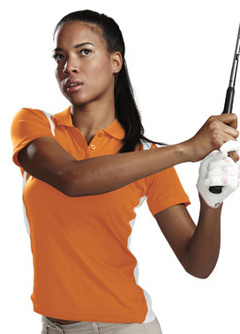 Custom embroidered Women's 6 oz. 100% polyester golf shirt, 143 Lady Blitz