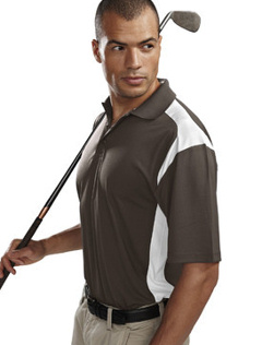 custom embroidered Tri Mountain Men's 6 oz. 100% polyester golf shirt. 145 Blitz.