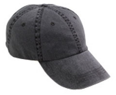 custom embroidered 145 Anvil Two-Tone 6-Panel Pigment-Dyed Unconstructed Cap