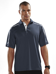 custom embroidered Tri Mountain Men's 6 oz. 100% polyester golf shirt. 174 Titan.