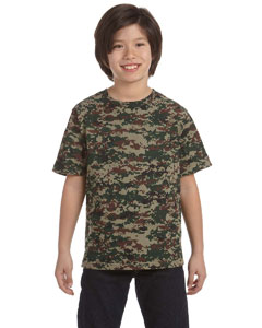 Custom embroidered 2206 Code V Youth Camouflage T-Shirt