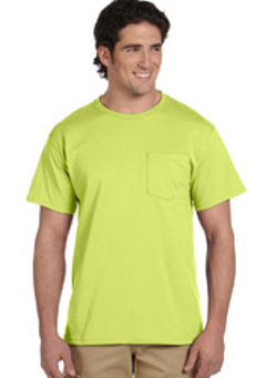 embroidered 29P Jerzees 5.6 oz., 50/50 Heavyweight Blend Pocket Safety T-Shirt