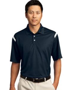 Custom embroidered Nike Golf - Dri-FIT Shoulder Stripe Polo. 402394