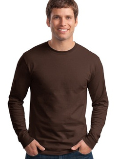 5586 Hanes Tagless® 6.1 oz. Long-Sleeve T-Shirt, embroidered with your logo