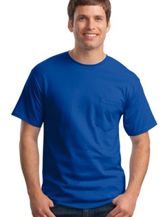 custom embroidered Hanes� - Tagless T-Shirt with Pocket. 5590