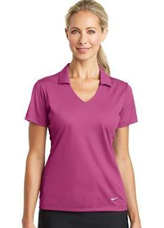 Custom embroidered Nike Golf Ladies Dri-FIT Vertical Mesh Polo. 637165