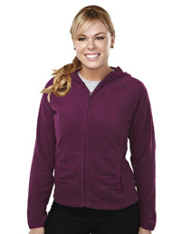 custom embroidered 7283 Galena Ladies Tri Mountain 7 oz. lightweight 100% polyester anti-pilling micro fleece jacket.