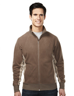 Custom embroidered Tri - Mountain 7285 Grenada Men's 7 oz. lightweight 100% polyester anti-pilling micro fleece jacket.