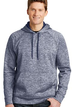 Custom embroidered Sport-Tek ® PosiCharge ® Electric Heather Fleece Hooded Pullover. ST225