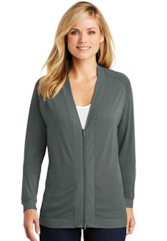 Custom embroidered Port Authority ® Ladies Concept Bomber Cardigan. LK5431