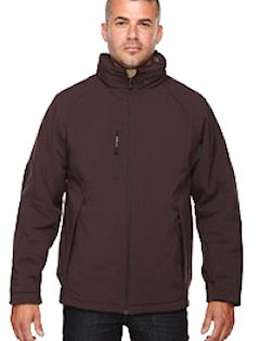 custom embroidered 88159 Ash City - North End Men's Glacier Insulated Three-Layer Fleece Bonded Soft Shell Jacket with Detachable Hood
