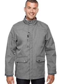 Custom embroidered 88672 Ash City - North End Sport Blue Men's Uptown Three-Layer Light Bonded City Textured Soft Shell Jacket