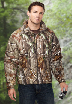 Camouflage embroidered jacket