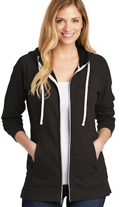 Custom embroidered District ® Women's Perfect Tri ® French Terry Full-Zip Hoodie. DT456
