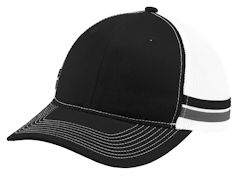 ce4b39754d253 embroidered Port Authority ® Two-Stripe Snapback Trucker Cap. C113
