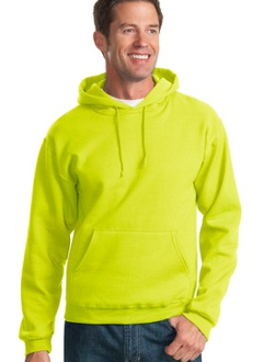 embroidered safety 996M Jerzees NuBlendT 8 oz., 50/50 Cotton/Poly Fleece Hoodie