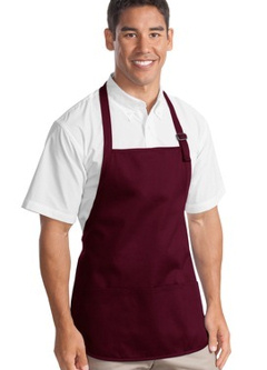 Port Authority® - Medium Length Apron with Pouch Pockets. A510, embroidered with your logo!