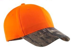 custom embroidered Port Authority® - Safety Cap with Camo Brim. C804