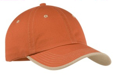 Custom embroidered Port Authority ® - Vintage Washed Contrast Stitch Cap. C835 .