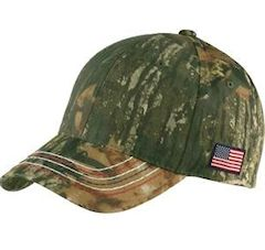 Custom embroidered Port Authority ® Americana Contrast Stitch Camouflage Cap. C909