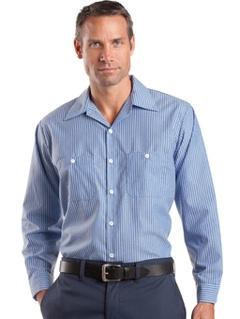 a4046e9da5 Custom embroidered Red Kap ® - Long Sleeve Striped Industrial Work Shirt.  CS10