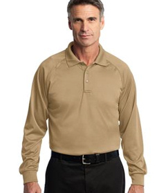 embroidered CornerStone® - Select Long Sleeve Snag-Proof Tactical Polo.CS410LS