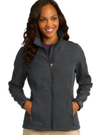 custom embroidered Eddie Bauer ® Shaded Crosshatch Soft Shell Jacket. EB533 ladies