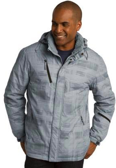 Custom embroidered Port Authority ® Brushstroke Print Insulated Jacket. J320