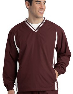 Sport-Tek ® - Tipped V-Neck Raglan Wind Shirt. JST62 with your embroidered logo left chest!