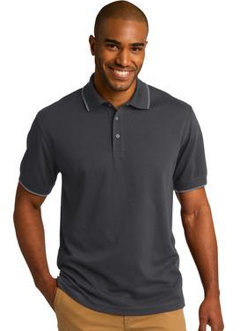 Custom embroidered Port Authority ® Rapid DryT Tipped Polo. K454