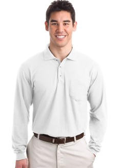 custom embroidered Port Authority ® - Tall Silk TouchT Polo. TLK500LSP