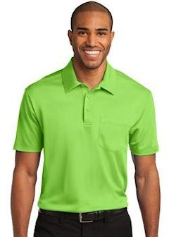 Custom embroidered Port Authority ® Silk Touch™ Performance Pocket Polo. K540P
