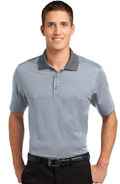 Custom embroidered Port Authority ® Fine Stripe Performance Polo. K558