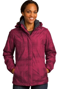 Custom embroidered Port Authority ® Brushstroke Print Insulated Jacket. L320