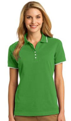 Custom embroidered Port Authority ® Ladies Rapid DryT Tipped Polo. L454