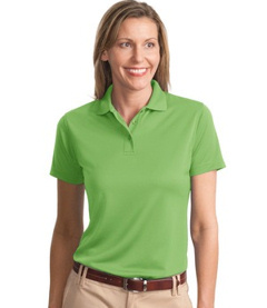 custom embroidered Port Authority® - Ladies Poly-Bamboo Blend Pique Polo. L497