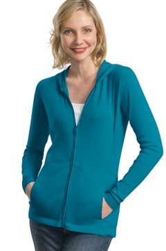Custom embroidered Port Authority ® - Ladies Modern Stretch Cotton Full-Zip Jacket. L519.
