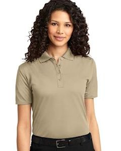 Custom embroidered Port Authority ® Ladies Dry Zone ® Ottoman Polo. L525