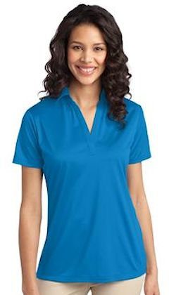 Custom embroidered Port Authority ® Ladies Silk Touch™ Performance Polo. L540