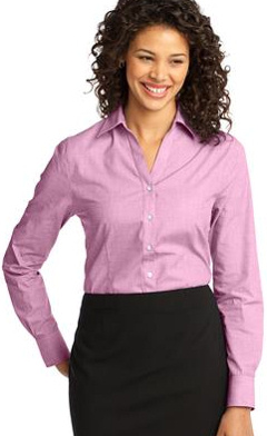 Custom embroidered Port Authority ® - Ladies Crosshatch Easy Care Shirt. L640