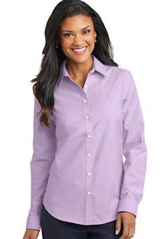 Custom embroidered Port Authority ® Ladies SuperPro ™ Oxford Shirt. L658