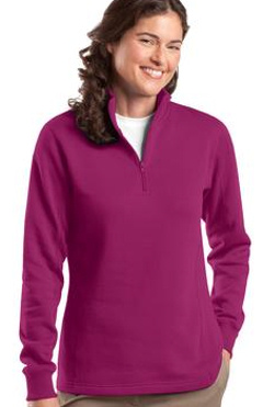 fe9a8ab3a63 Custom embroidered Sport-Tek ® - Ladies 1 4-Zip Sweatshirt. LST253