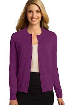 Custom embroidered Port Authority ® Ladies Cardigan. LSW287