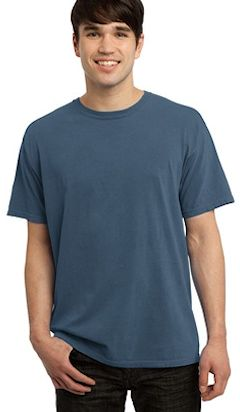 Custom embroidered pigment dyed garment washed t shirts for Custom embroidered t shirts no minimum