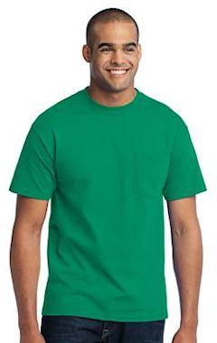 9fe5872da7a Port   Company ® - 50 50 Cotton Poly T-Shirt with Pocket. PC55P