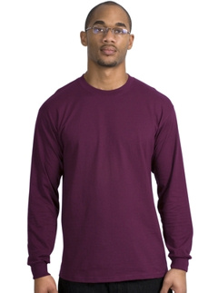 Port and company, long sleeve 100% cotton tshirt, with your custom logo embroidered!