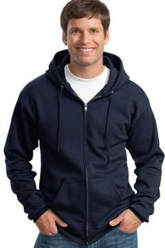 custom embroidered Port & Company® - Full Zip Hooded Sweatshirt. PC90ZHT