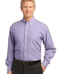 Custom embroidered Port Authority ® - Plaid Pattern Easy Care Shirt. S639