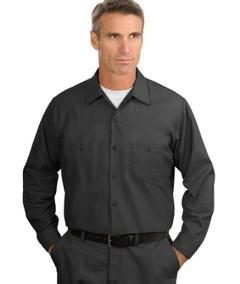 25859e1b59 Custom embroidered Red Kap ® - Long Sleeve Industrial Work Shirt. SP14