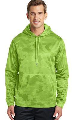 Custom embroidered Sport-Tek ® Sport-Wick ® CamoHex Fleece Hooded Pullover. ST240